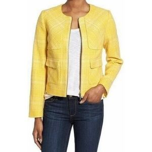 Halogen Plaid Zip Blazer Size XL
